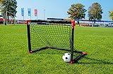 Powershot Fußballtor für den Garten, komplett faltbar, 90 x 60 cm +...