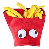 PRETYZOOM Essen Kostüm Hut Lustige Pommes Frites Fast Food Mütze...
