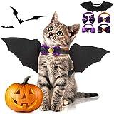 Fansport 5PCS Halloween Katze Kleidung,Katze Bat Wings Katze Kostüm...