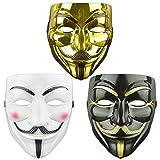 DWTECH Guy-Fawkes-Maske für Erwachsene/Kinder, Motiv: V wie Vendetta,...