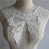 ZYING Weiße Perle Stickerei Spitze Halsausschnitt DIY Kragen Slim...