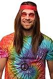 Balinco Hippie Set mit Perücke + runde Sonnenbrille + Peace Anhänger...