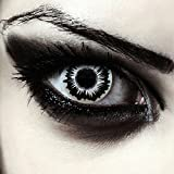 Weiß schwarze farbige Kontaktlinsen für Halloween Walküren Kostüm...
