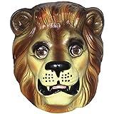 Spassprofi Schöne Tiermaske zum Aufsetzen Maske Löwe Plastik...