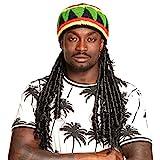 Boland 82008 - Mütze Rasta Dreadlocks, bunt, Jamaica, Kopfbedeckung,...
