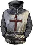xHxttL Herren Mittelalterliche Templer Ritter Hoodie Sweatshirt...