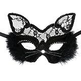 Cusfull Sexy Schwarz Katze Maske Damen Vintage Cosplay Maskerade Party...