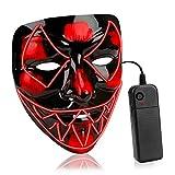 HUAQIN Halloween kostüm LED Maske Venom mit 3 Beleuchtungsmodi...