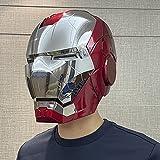 QWEASZER Iron Man Helm Maske Leuchtend, Marvel Avengers Kunststoff...