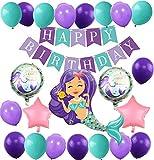 Meerjungfrau Thema Party Dekoration Geburtstag Deko Mädchen...
