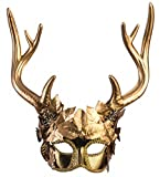 shoperama Maske Diana Artemis Göttin der Jagd mit Hirschgeweih Gold...