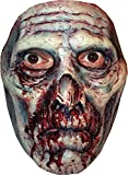 Blutiger Zombie Halbmaske aus Latex Zombiemaske