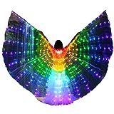 LAMF LED-Bauchtanz-Flügel mit Teleskopstab, leuchtende...