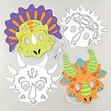 """Baker Ross Masken """"Dinosaurier"""" zum Ausmalen (8 Stück) – Masken..."""