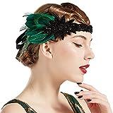 BABEYOND Damen 1920s Feder Stirnband 20er Jahre Stil Flapper...