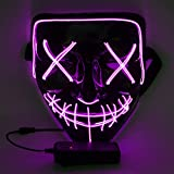 WUJUN Glowing Halloween Maske Funny Grimace Cosplay Party Carnival LED...