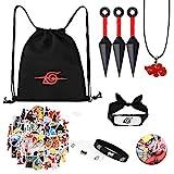 bilkoivn Naruto-Tasche, einschließlich Naruto-Kordelzug-Rucksack,...