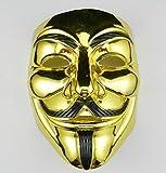 VintageⅢ VIP Gold Version Anonym Maske / V für Vendetta Maske / Guy...