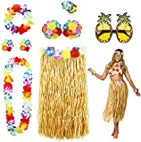 8PCS Hawaii Mottoparty Kostüme Set, Tanzen Hula, Hawaiian Lei,...