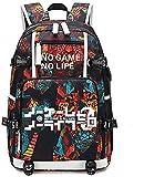 Anime No Game No Life Rucksack Cosplay Bookbag Daypack Laptop Tasche...