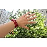 MLJSX Armband Natürliche Samen Rote Bohnen Gebetskette Armband Liebe...