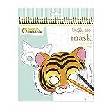 Avenue Mandarine- Heft mit Spirale Graffy Pop Tiermasken- 24...