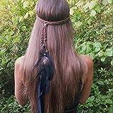 Runmi Boho-Feder-Stirnband, Hippie-Stil, indischer Kopfschmuck,...