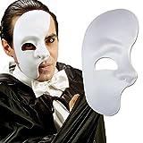 NET TOYS Phantommaske Halbes Gesicht Maske weiß Phantom der Oper...