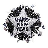 Widmann 7892S - Brosche, Happy new Year, silber, Stern, Weihnachten