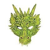 Bristol Novelty BM553 Drachen Maske, Grün