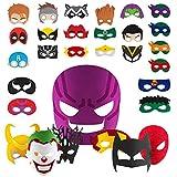 ZIIDOO Superhelden Masken, 30 Stücke Filz Superhelden Geburtstagsdeko...