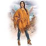 Boland 44095 - Poncho Indianerin, braun, Einheitsgröße für...