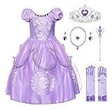 JerrisApparel Mädchen Prinzessin Sofia Kostüm Kleid Geburtstag Party...