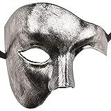 Daxoon Phantom der Oper Maske Herren Maskerade Halbgesichtsmaske für...