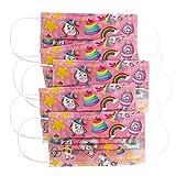 CRAZE 5er Set bunte Mundmaske für Kinder Einwegmaske Gesichtsmaske...