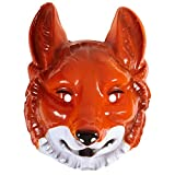 PARTY DISCOUNT Maske Fuchs aus PVC, braun