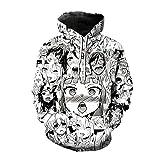 CVMFE Sweatshirt Pulloverkawaii Ahe Hentai Face Anime Ahegao Hoodie...