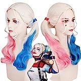thematys Harley Quinn Perücke Kostüm Zubehör für Damen - perfekt...