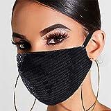 Yean Pailletten-Maske, schwarz, für Maskerade, modische...