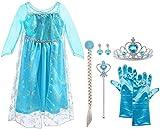 Vicloon ELSA Prinzessin Kostüm Kinder Deluxe Fancy Blaues...