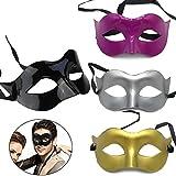 CAILI 4 Stücke Maskerade Maske Herren Venezianische Maske Oper...