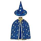 HomeMall Kinder Halloween Kostüm, Hexe Zauberer Umhang mit Hut für...
