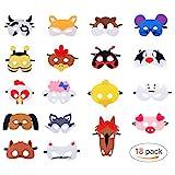 Masken für Kinder Filz Tiermasken Bauernhof-Tiere mit Elastischen...