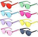 FSMILING 8er Karneval Sonnenbrille Damen Party Sonnenbrillen Set,...