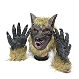 thematys Böser Wolf mit Klauen Handschuhen Horror Maske - perfekt...