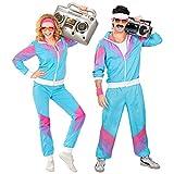Widmann 9888T - Kostüm 80er Jahre Trainingsanzug, Jacke und Hose,...