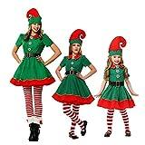 YFPICO Kinder Erwachsene Weihnachtskostüm Weihnachtself Set...