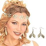 NET TOYS Blätter Elfen Ohrringe Blatt Ohrhänger Gold Antike...