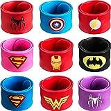 Schnapparmband, 9Pcs Schnapparmbänder für Kinder, Superhelden Slap...