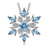 JewelryPalace Schneeflocke echten Schweizer Blau Topas Solid 925...